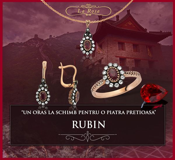 Rubin, bijuterii cu rubin