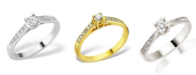 Inelele de logodnă La Rosa cu diamante, alegerea perfectă