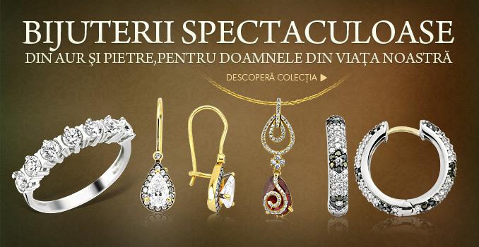 Bijuterii spectaculoase din aur şi pietre, pentru doamnele din viaţa noastră