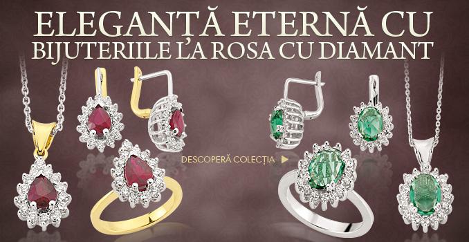 bijuterii diamant la rosa